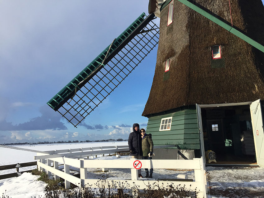 Snowy Dutch plains can never be guaranteed, but are wonderful to experience (especially at a windmill from the 1600s)