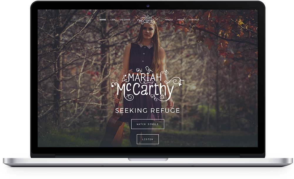 Mariah McCarthy Music website