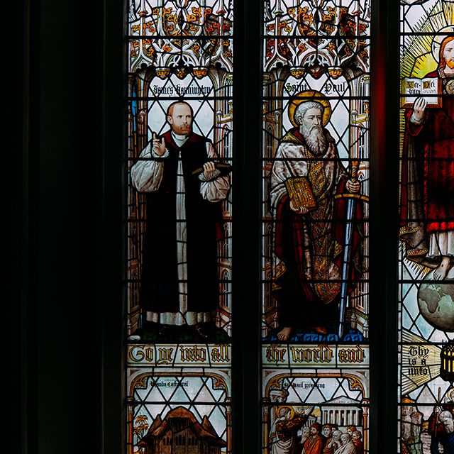 Had the rare opportunity to photograph the st Aldates Stain Glass window from scaffolding. Beautiful colours. . . . . . #photography #colour #sonya7rii #church #stainglass #vibrant