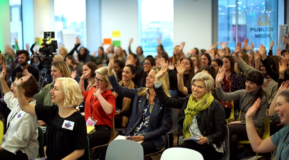 Attendees at the inaugural BloomFest - a one-day conference on 'Naked Truths',exploring the unspoken and taboo topics that fuel barriers in the workplace.