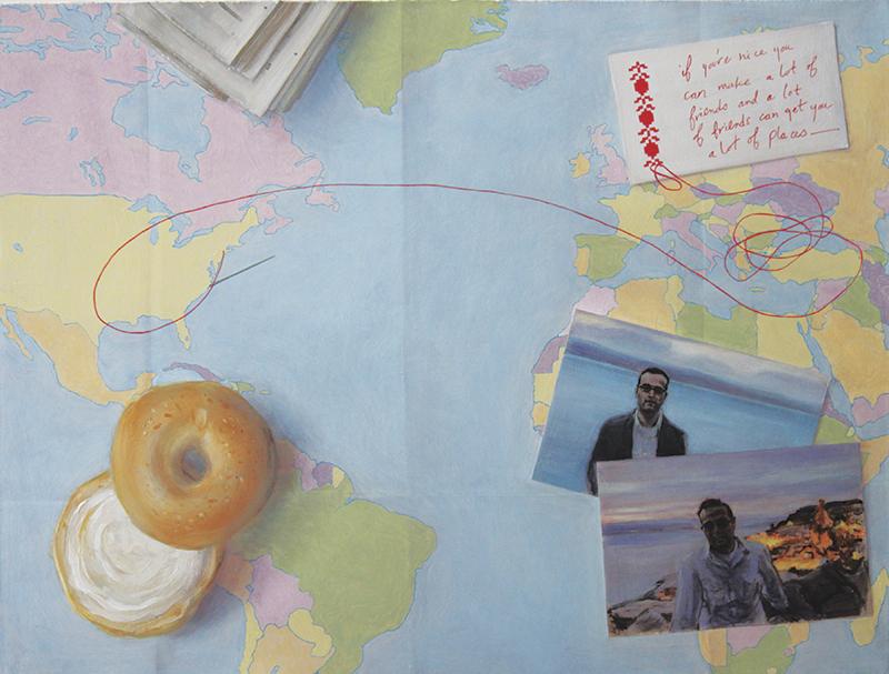"Masterpiece of Love original artwork For Tasha by Jen Mazza; 16"" x 21"" oil on canvas"