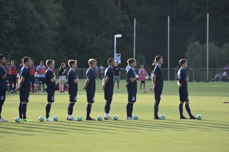 Carolina and Coastal Carolina kicked off the season with an exhibition match Sunday evening.