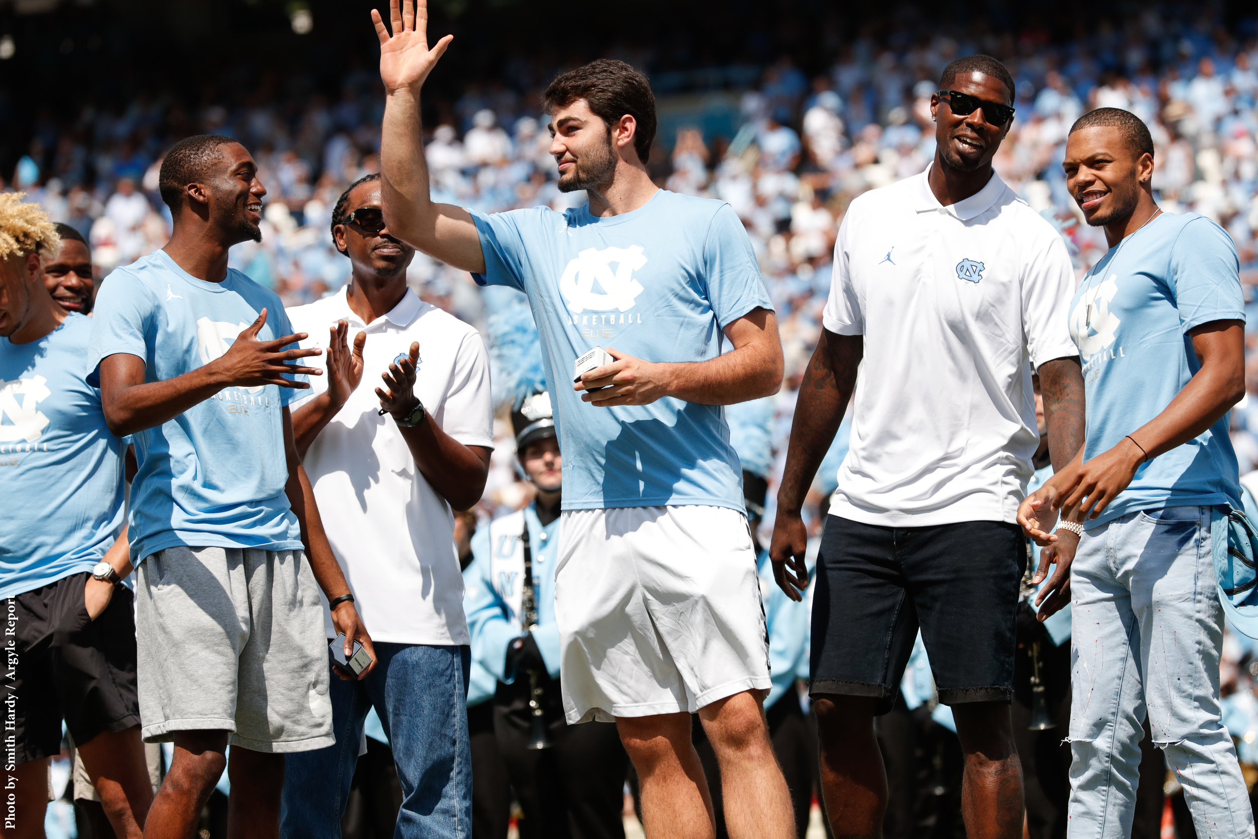 Brandon Robinson, Donald Williams, Luke Maye, Marvin Williams, Nate Britt