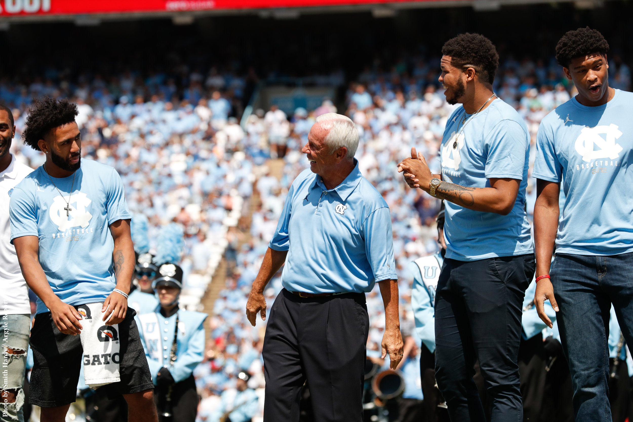 Joel Berry, Roy Williams, Kennedy Meeks, Isaiah Hicks