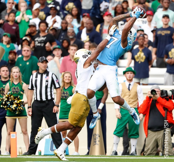Ratliff-Williams caught the Tar Heels' lone touchdown on Saturday. (Smith Hardy)