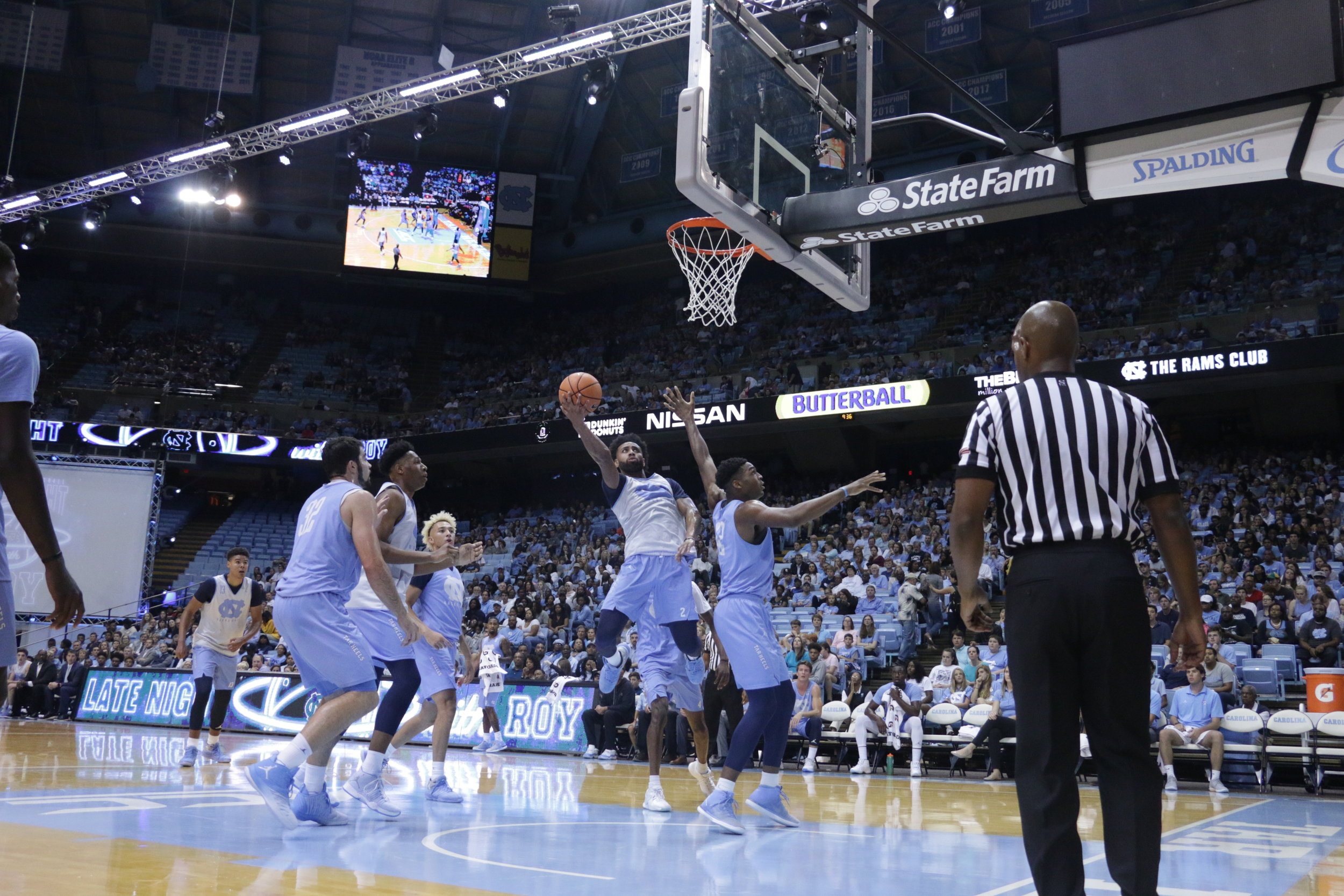 Joel Berry (2) looked confident as ever in Friday's scrimmage.