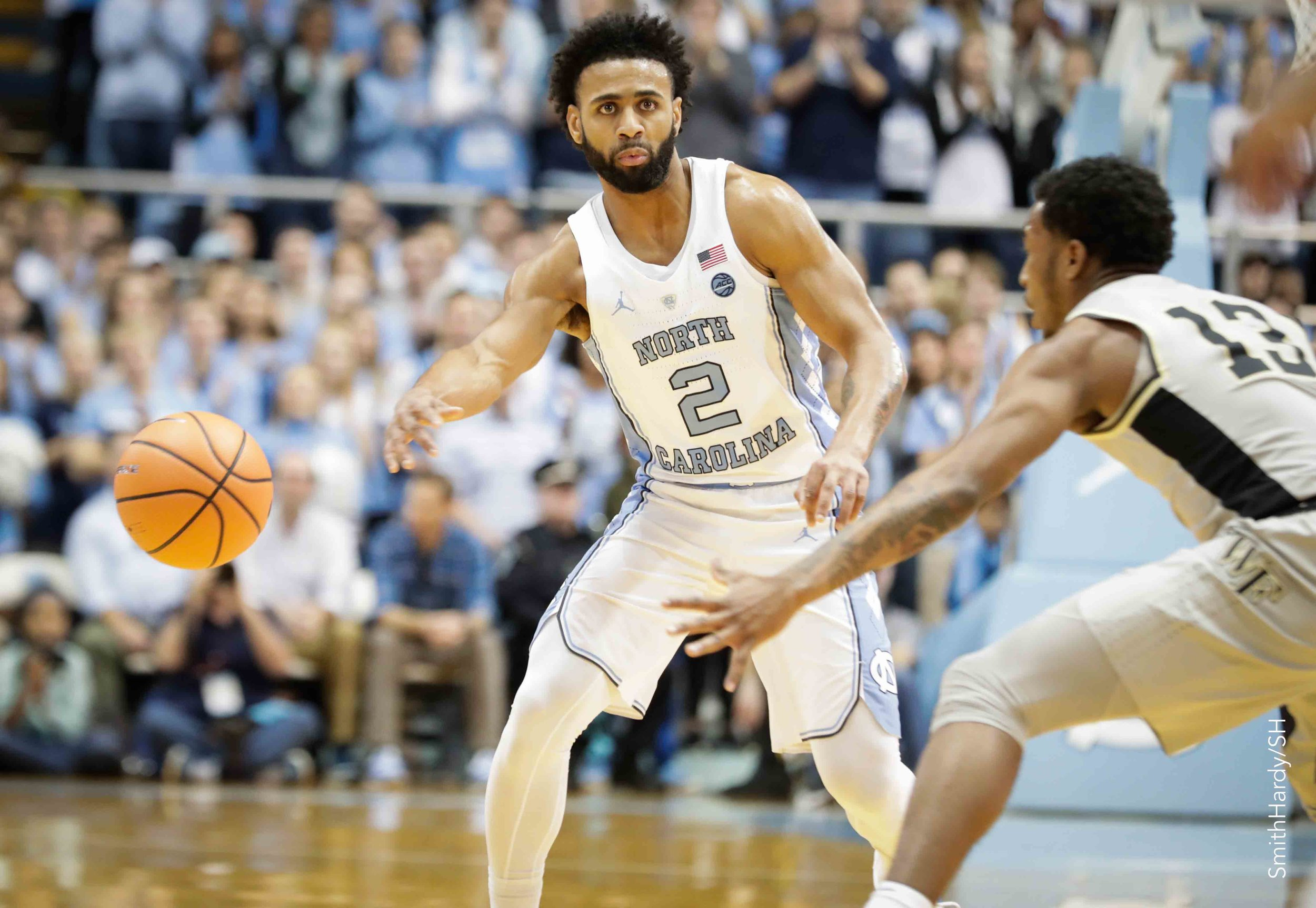 Joel Berry sank two free throws in the final moments of Saturday's game against Notre Dame to give the Tar Heels the lead for good. Berry finished with 15 points, three assists and two rebounds.