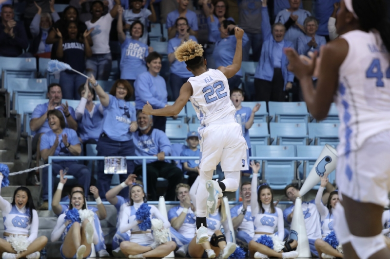Paris Kea (22) scored a career-high 36 points and hit the biggest shots of the game, fueled by a raucous Carmichael Arena crowd. | Photo by Caleb Jones