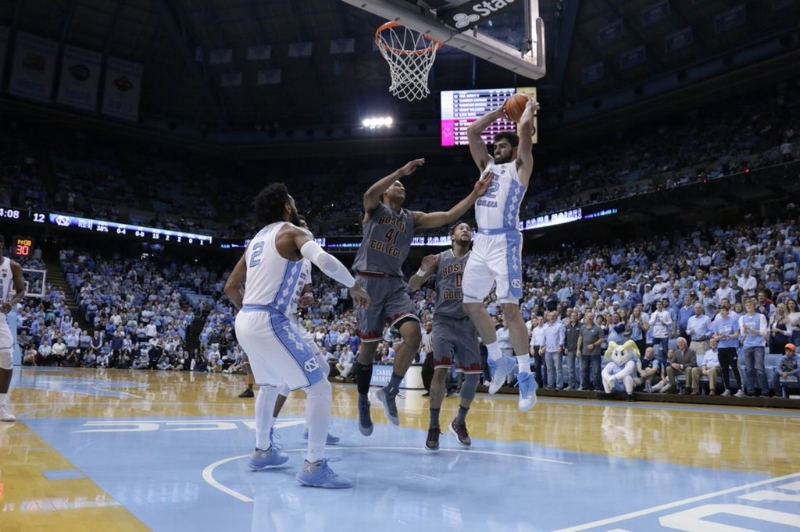 Luke Maye (32) brings the ultimate balance of inside and out to this year's Tar Heel team. | Photo by Gabi Palacio
