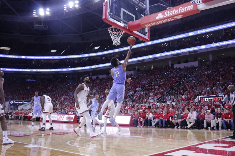 Joel Berry (2) angered the N.C. State fan base on Tuesday when he said the Wolfpack weren't a UNC rival. On Saturday, he stuck by his claim. | Photo by Gabi Palacio