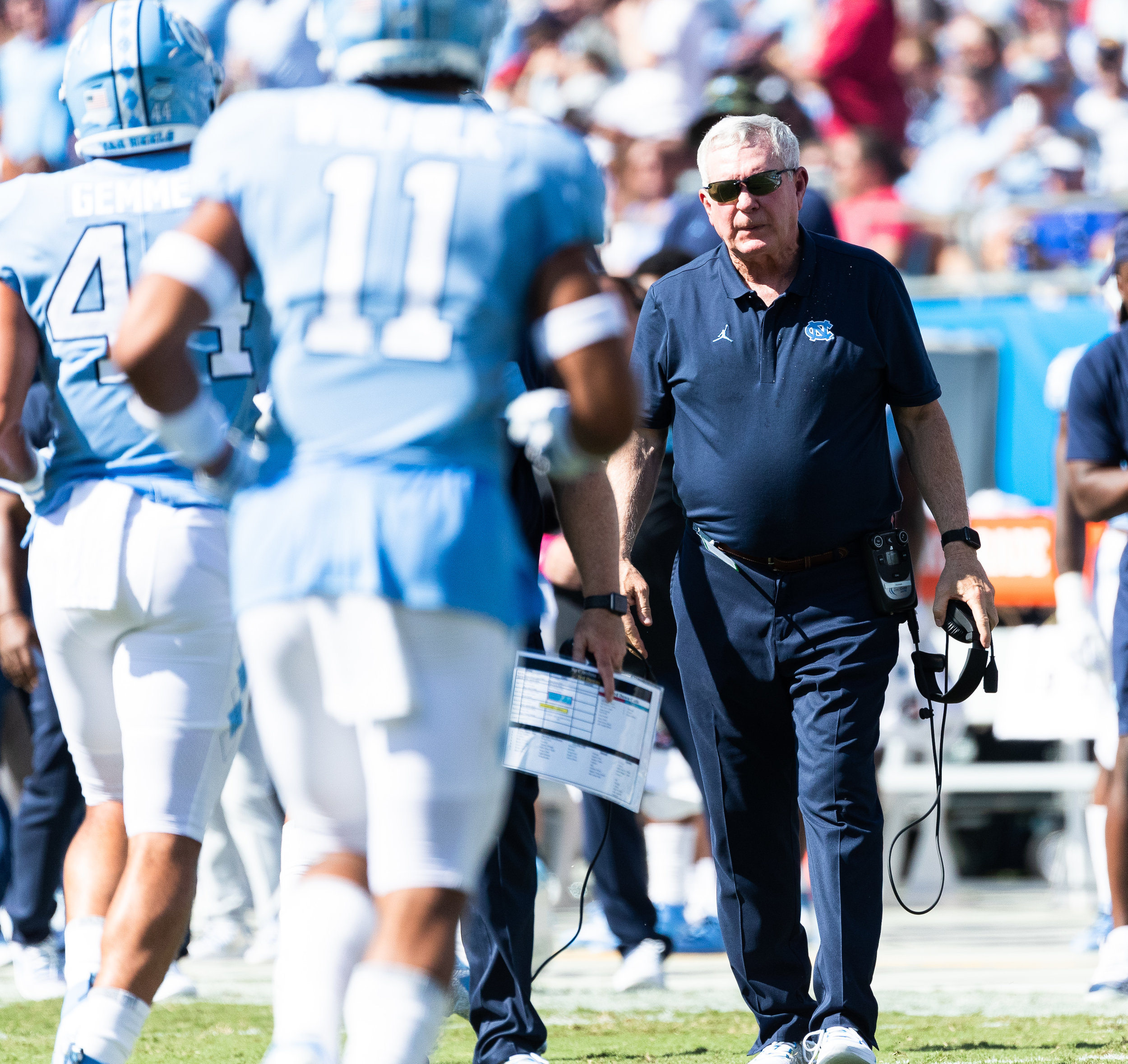Brown won his first game back on the sideline in 6 years.  Photo by Smith Hardy