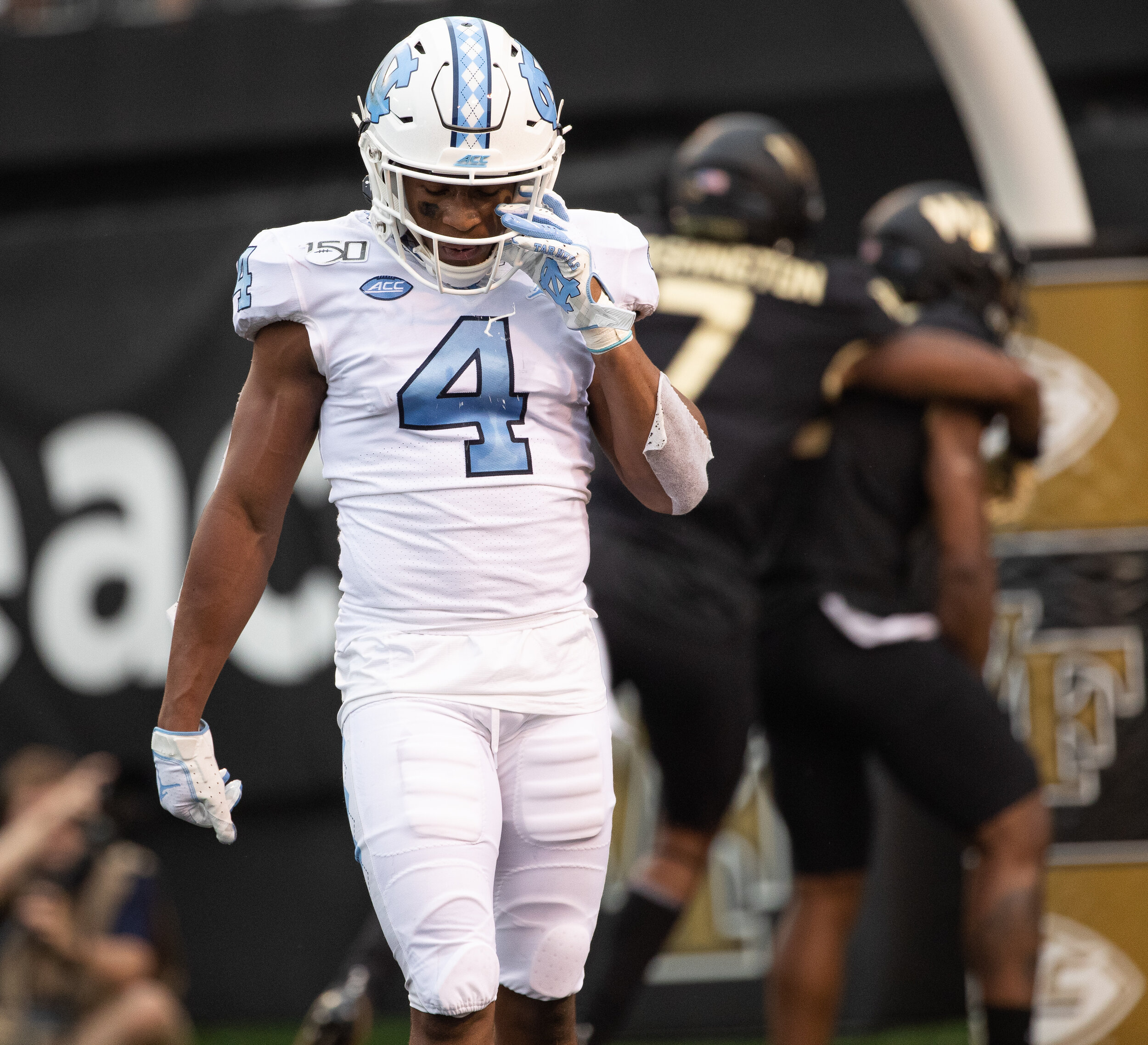 Toe Groves and the rest of UNC's offense came up short.  Photo by Smith Hardy .
