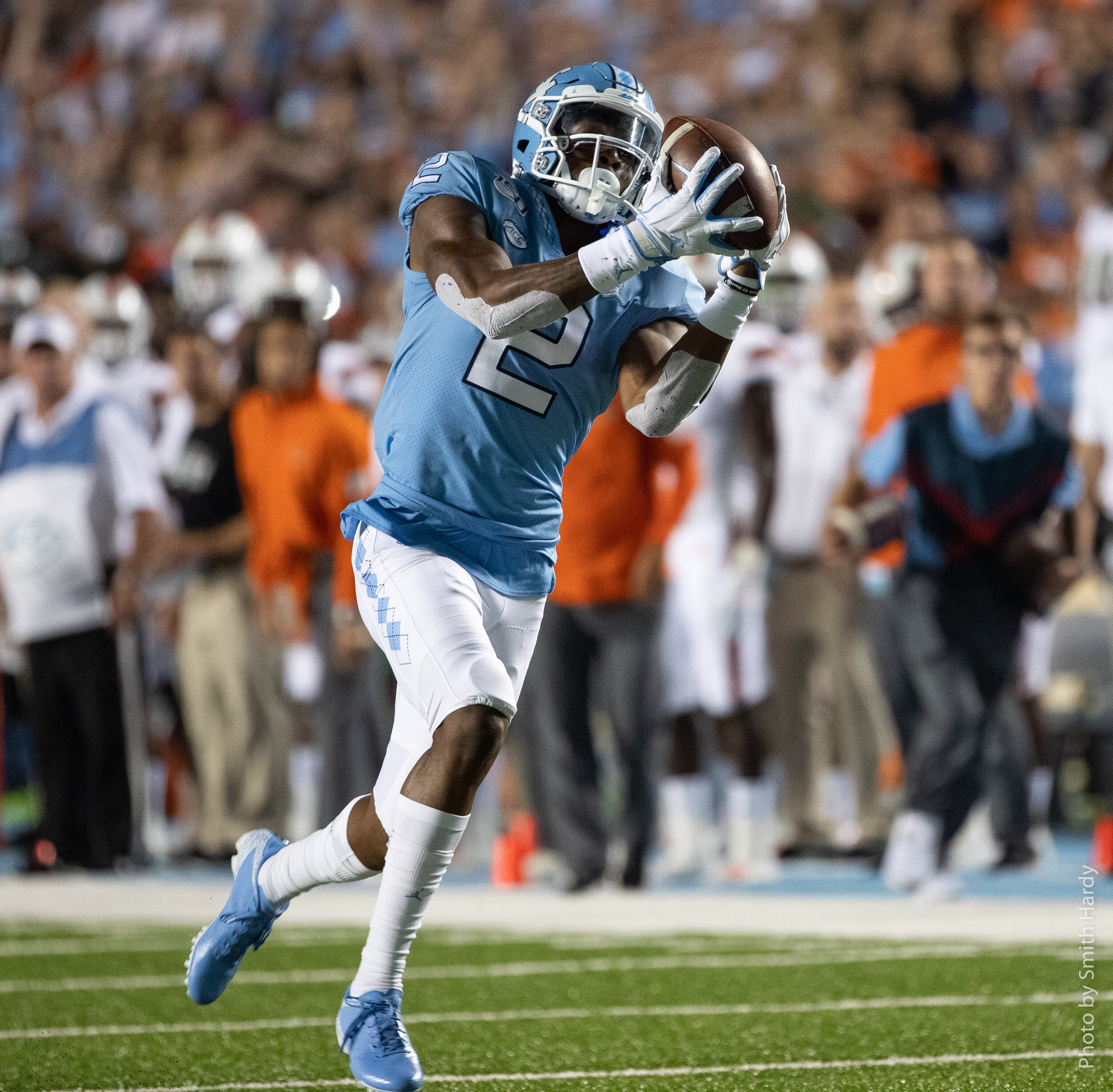 Carolina could use some more wide receivers like Dyami Brown.  Photo by Smith Hardy.