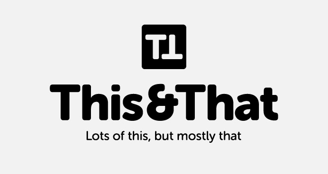 This&That centred logo example