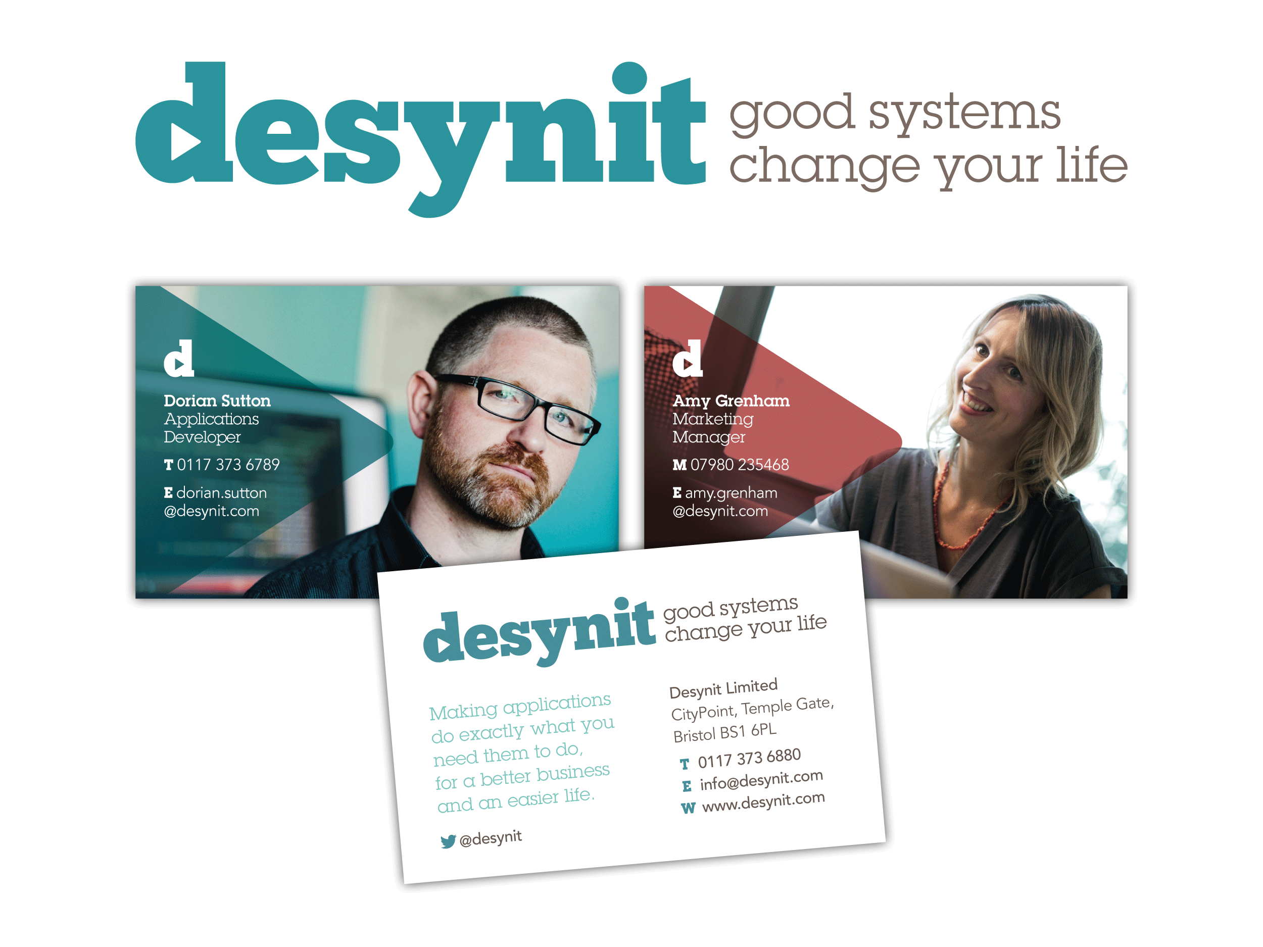 Desynit brand and business card design