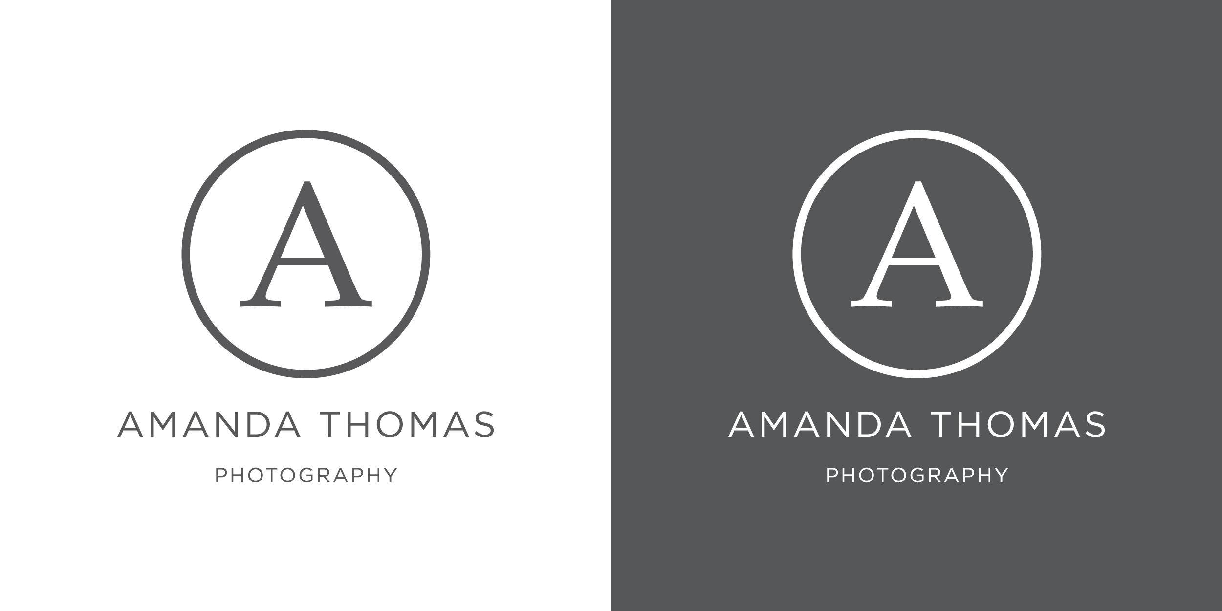 Amanda Thomas Photography logo design