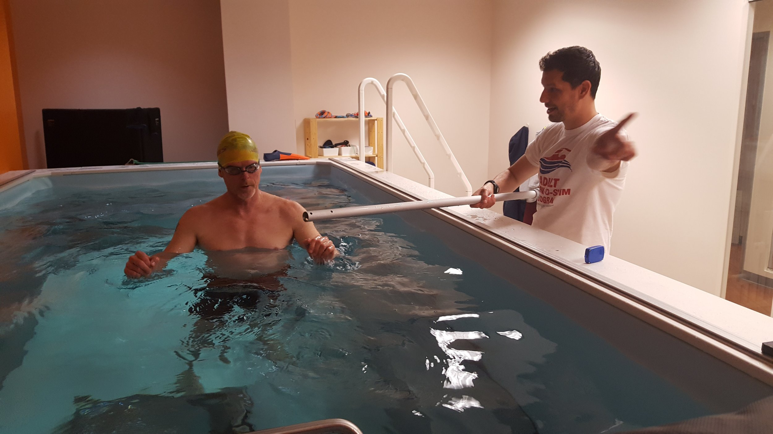 Dominic Latella; private swim workshop at SwimBox