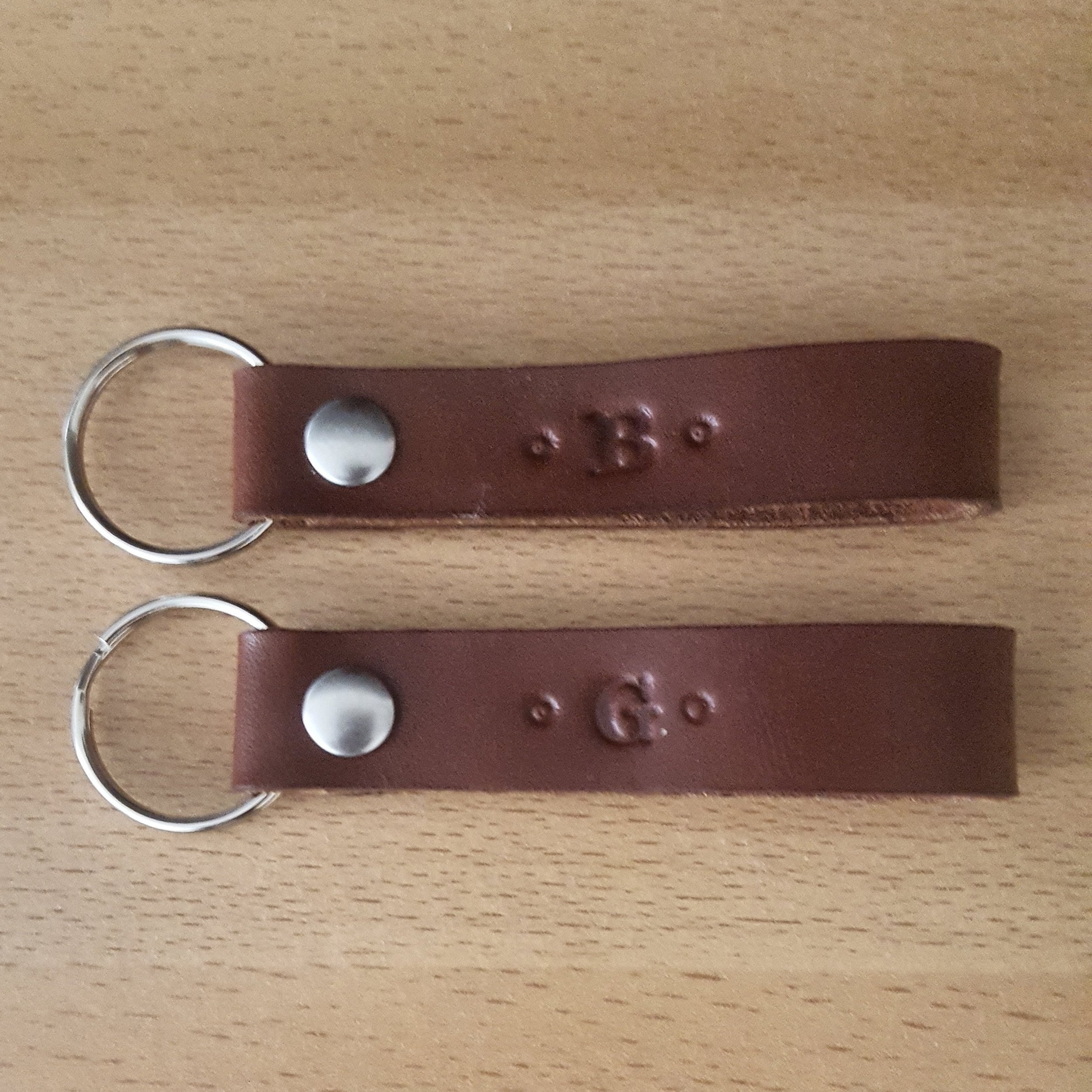 Curry Leather Craft Brown Strap Key Ring