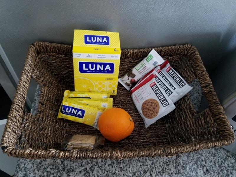Luna LemonZest Whole Nutrition Bar - Kashi Cherry Dark Chocolate Granola Bar - Cookie Republic Chocolate Chip Whole Grain Cookie.