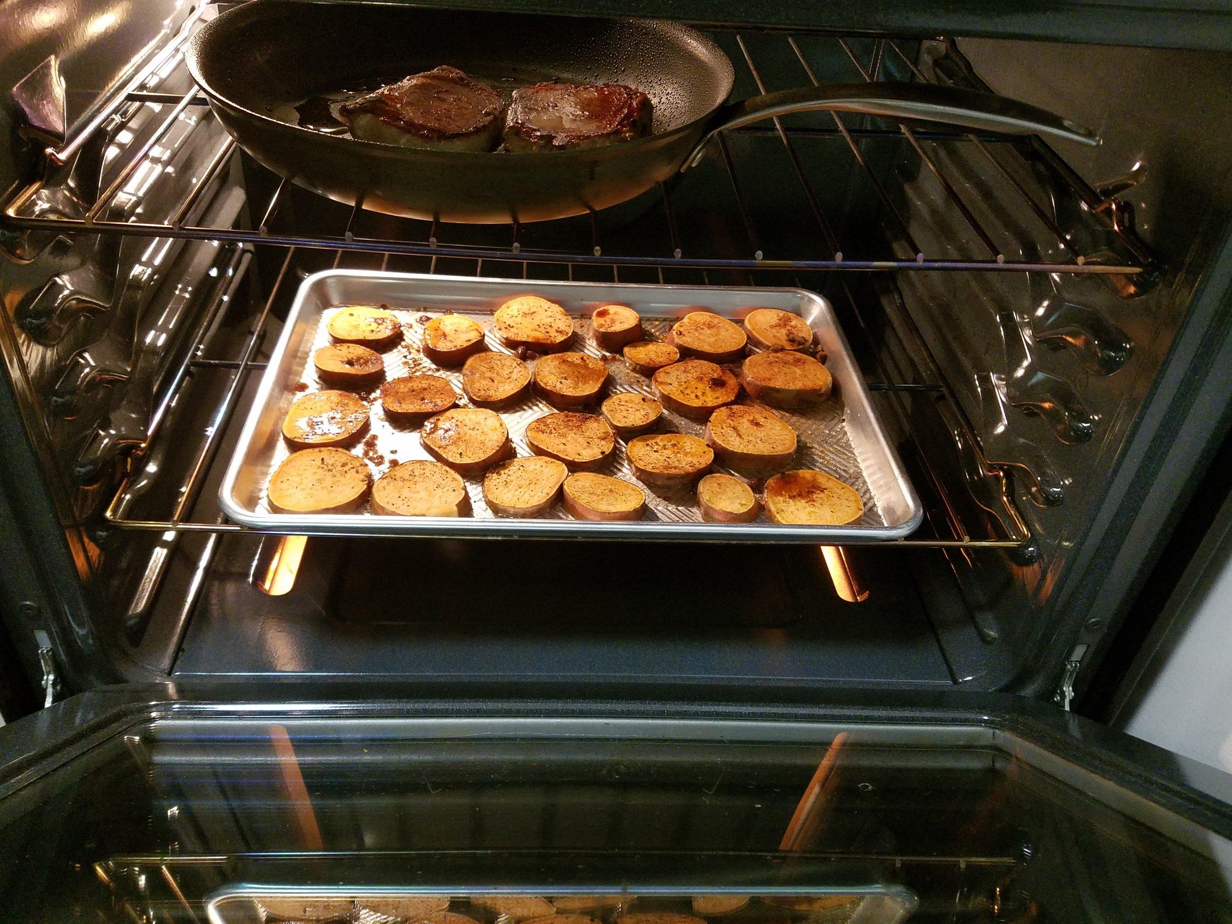 Chef_d Smoky Maple Pork Loin Roast Pork While Sweet Potatoes Cook.jpg