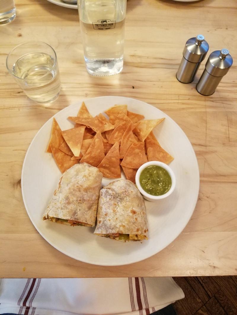 Breakfast Burrito @ The Farmers Union in San Jose, CA