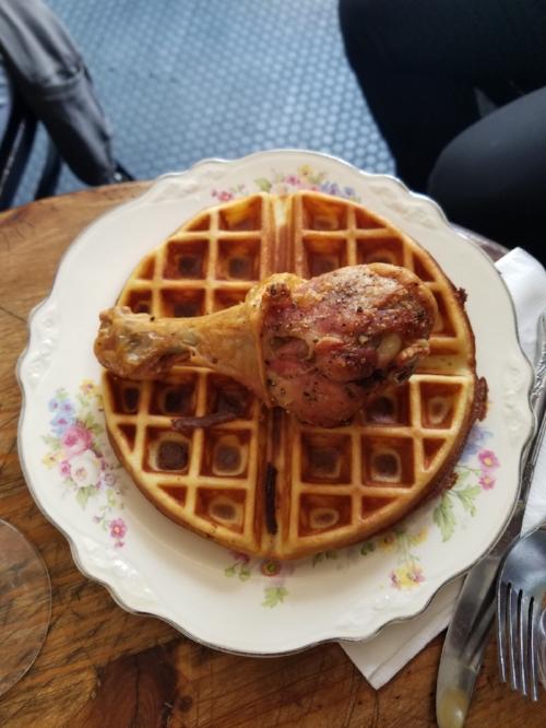 Chicken + Waffle @ Peque