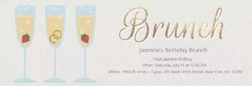 Jasmine created her invitation on Evites.
