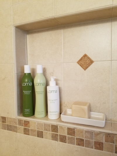 Loma shampoo and conditioner and Calming Creme.