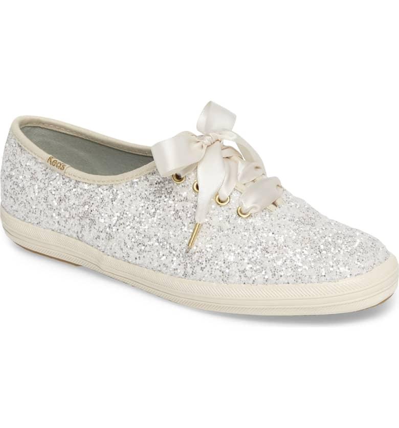 Glitter Sneaker by Kate Spade x Ked Cream