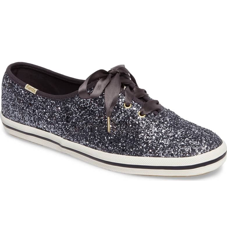 Glitter Sneaker by Kate Spade x Ked Pewter