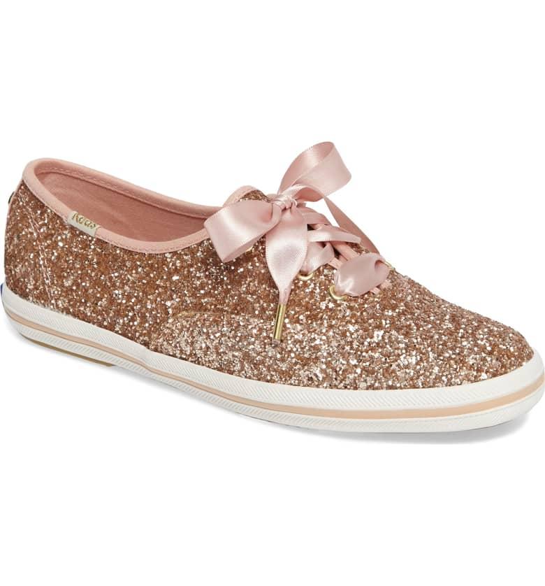 Glitter Sneaker by Kate Spade x Ked Rose Gold
