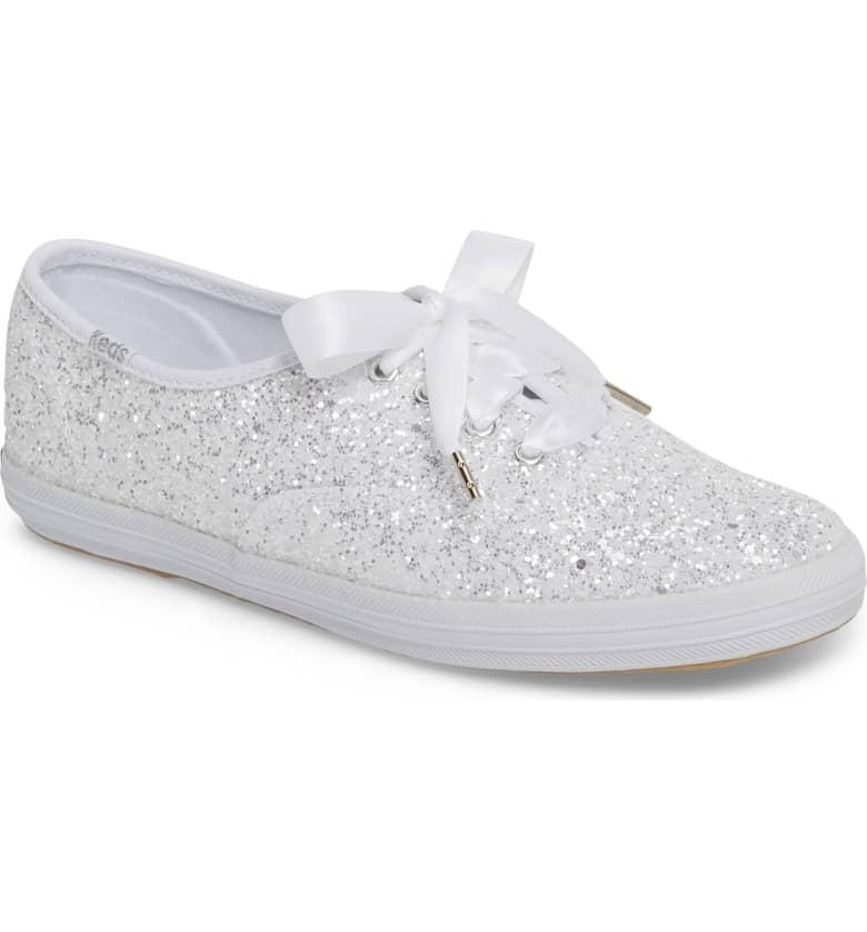 Glitter Sneaker by Kate Spade x Ked White