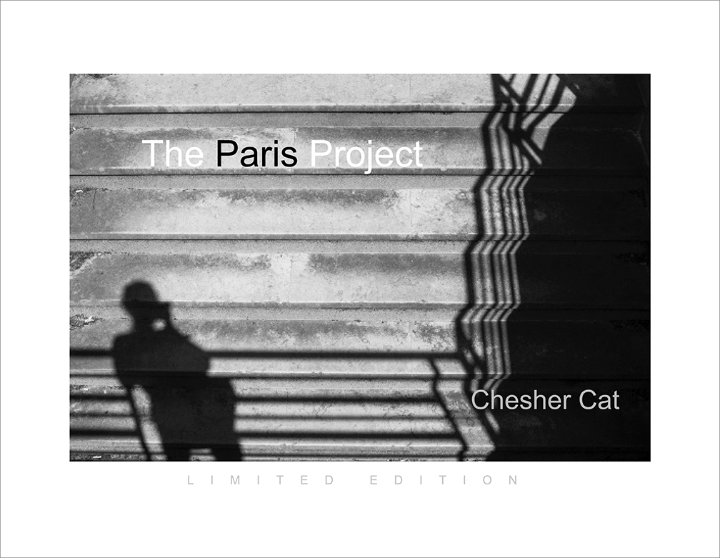 THE PARIS PROJECT  - Limited Edition of 50 numbered and signed hard cover coffee-table book, 60 photographs shot in Paris from July 18 through August 27, 2016. There are only 50 copies Numbered and Signed. Only 4 available at this price.  $75
