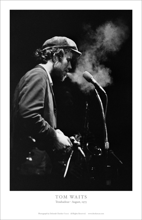 TOM WAITS  - 17in x 11in lithograph print. Only 12 available.  $40