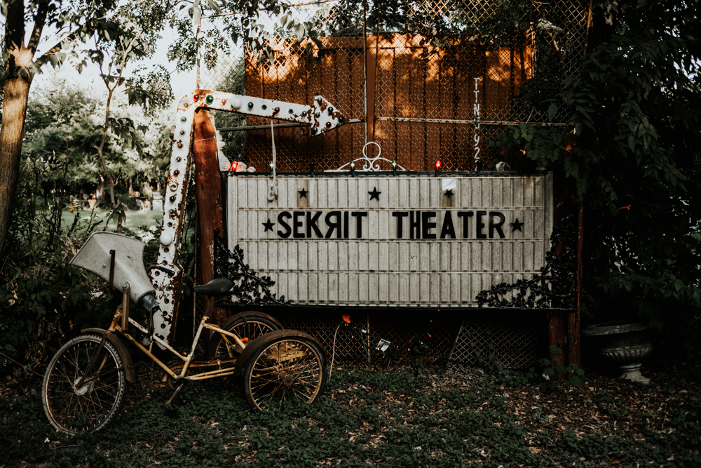 Couples Engagement Photographer, Adventure Photography at Sekrit Theater in Austin, TX