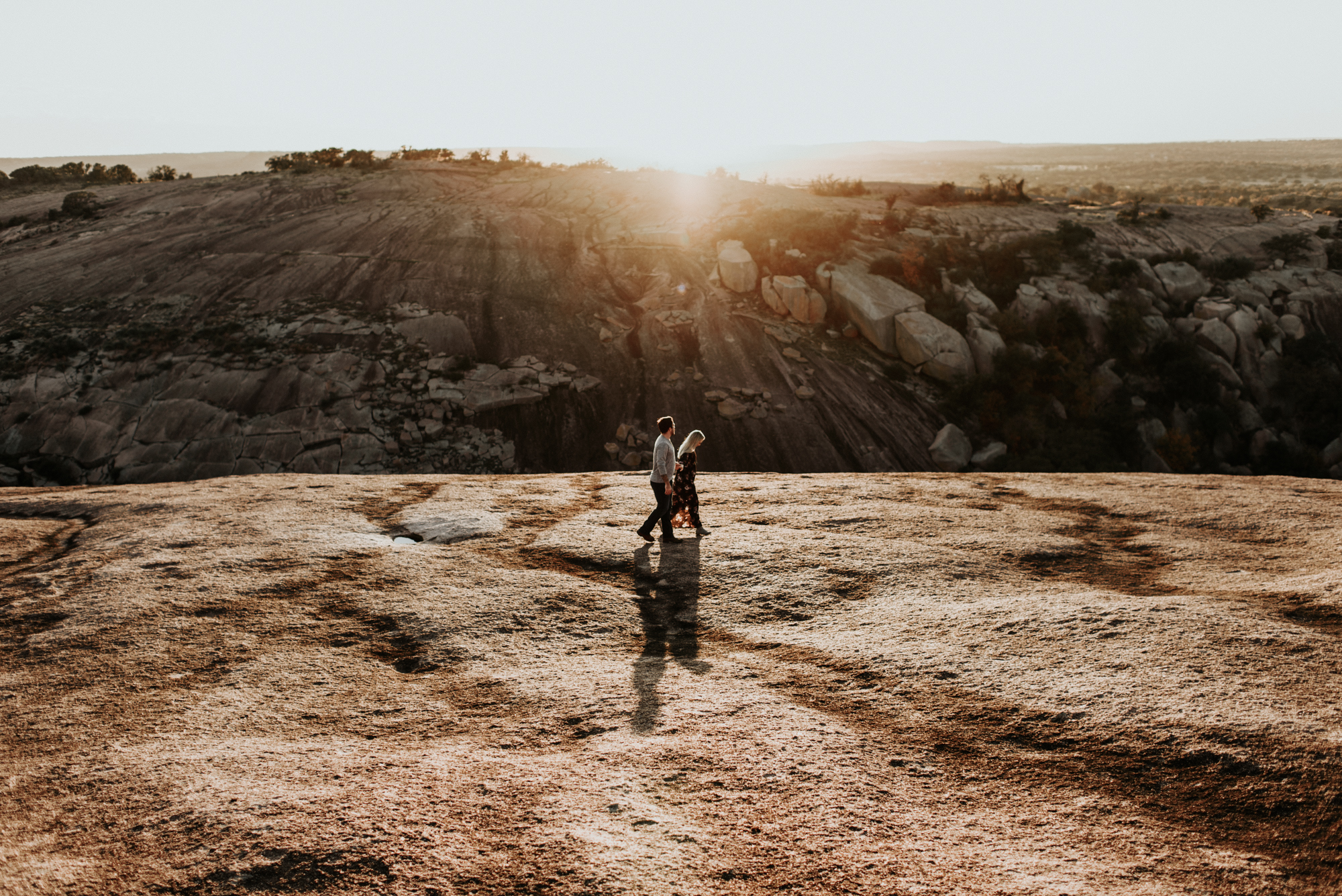 Couples Engagement Photographer, Adventure Photography Session in Enchanted Rock State Natural Area, Texas