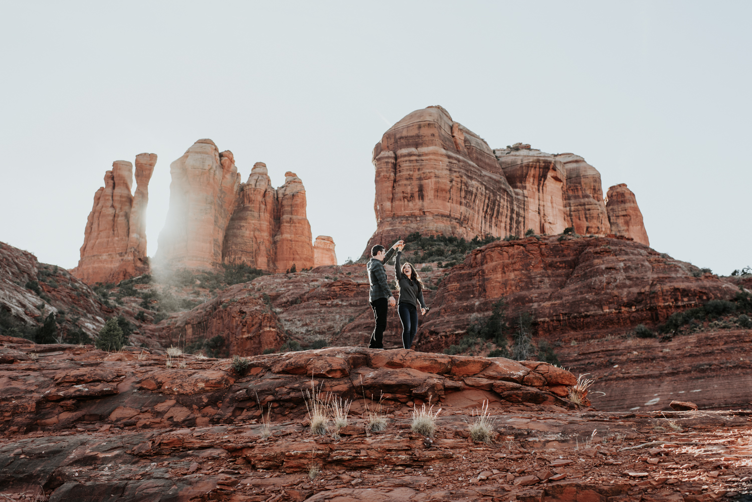 Couples Engagement Photographer, Adventure Engagement Session in Sedona, Arizona