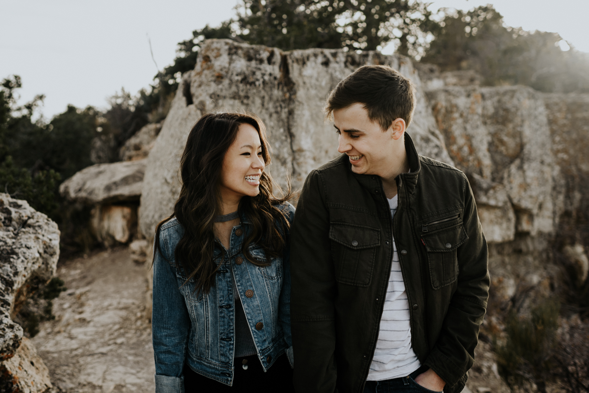 Couples Adventure Photography, Adventure Engagement Session at Grand Canyon National Park