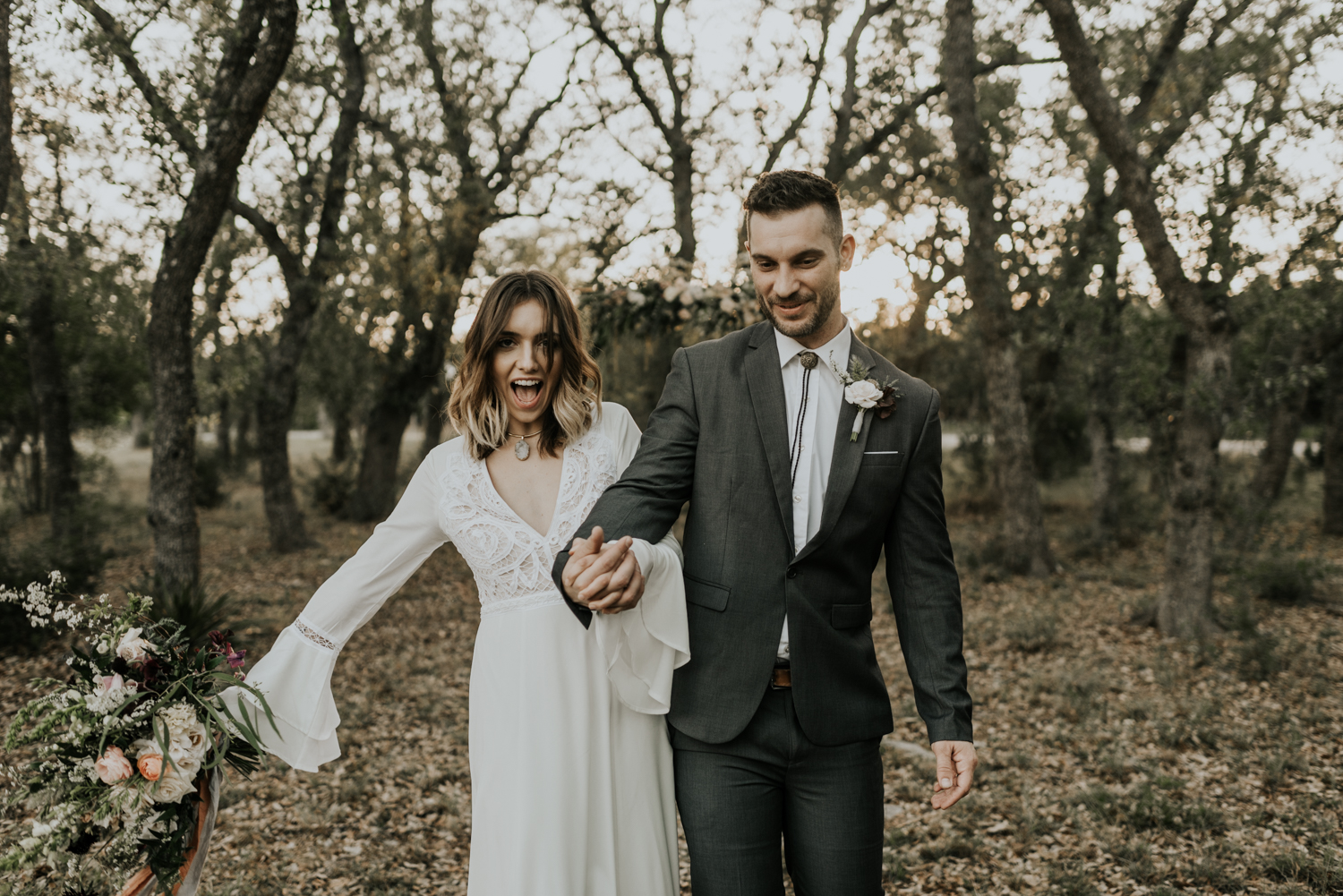 Intimate Vow Renewal in the Texas Hill Country