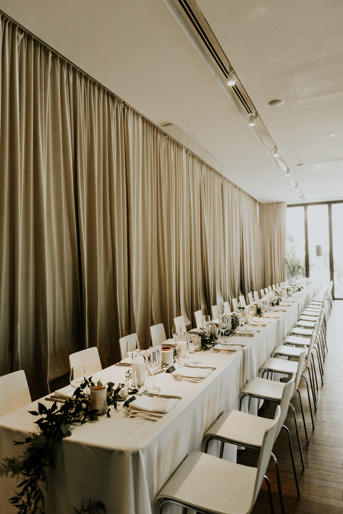 Intimate Wedding Day Modern Decor at South Congress Hotel in Austin, Texas
