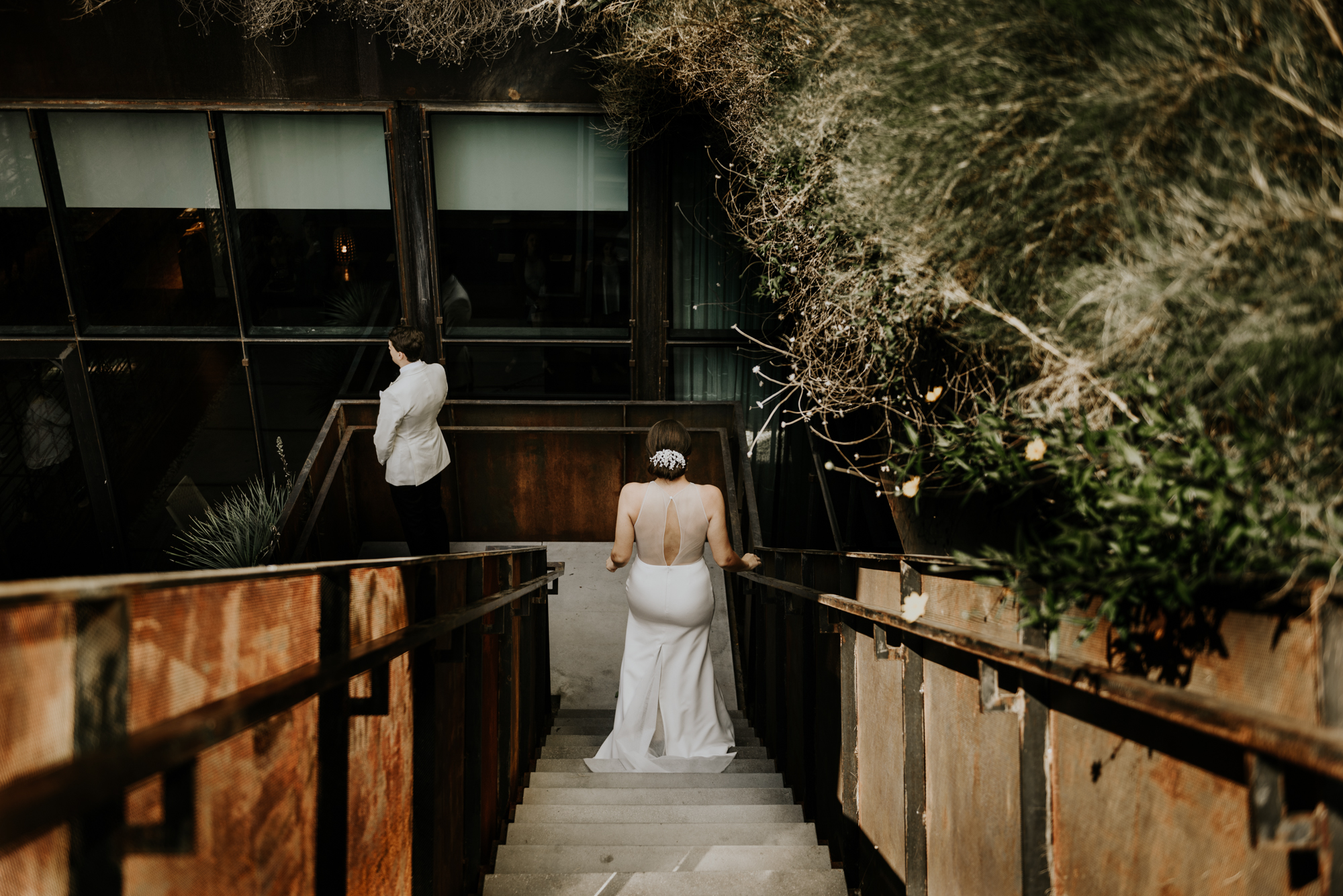 Intimate Wedding First Look Photos at South Congress Hotel in Austin, Texas
