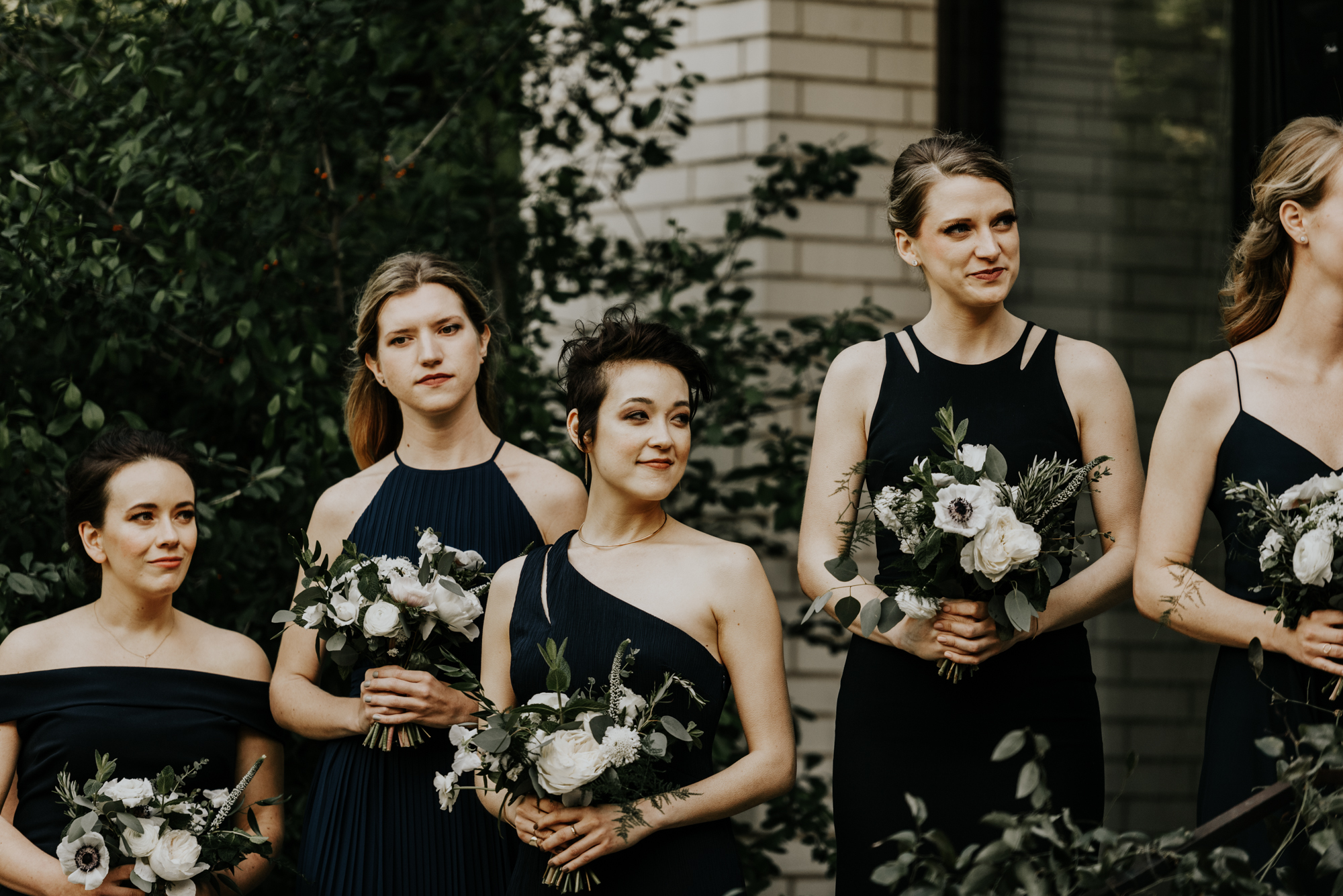 Intimate Ceremony Bridesmaids Photos at South Congress Hotel in Austin, Texas