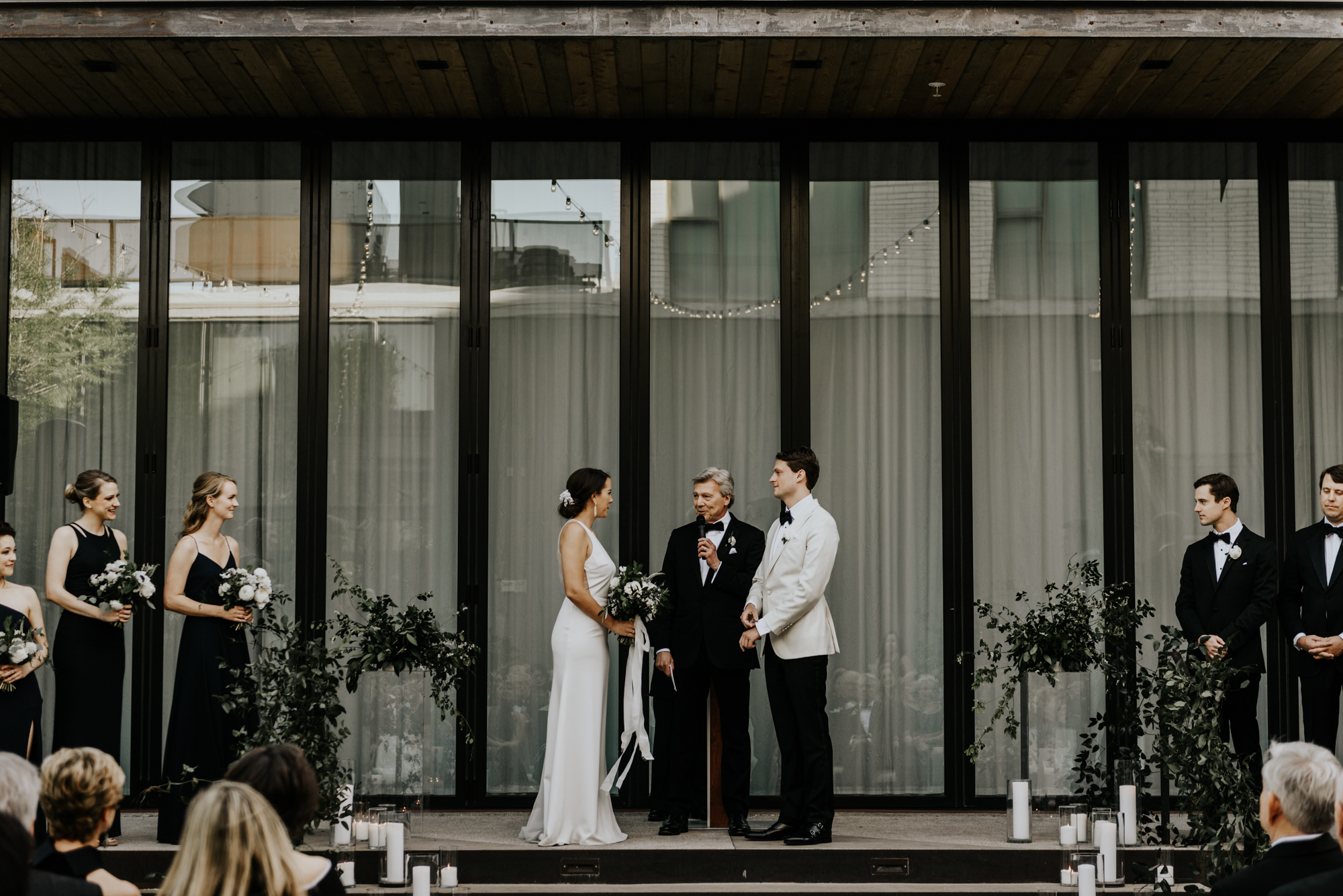 Intimate Wedding Ceremony Photos at South Congress Hotel in Austin, Texas