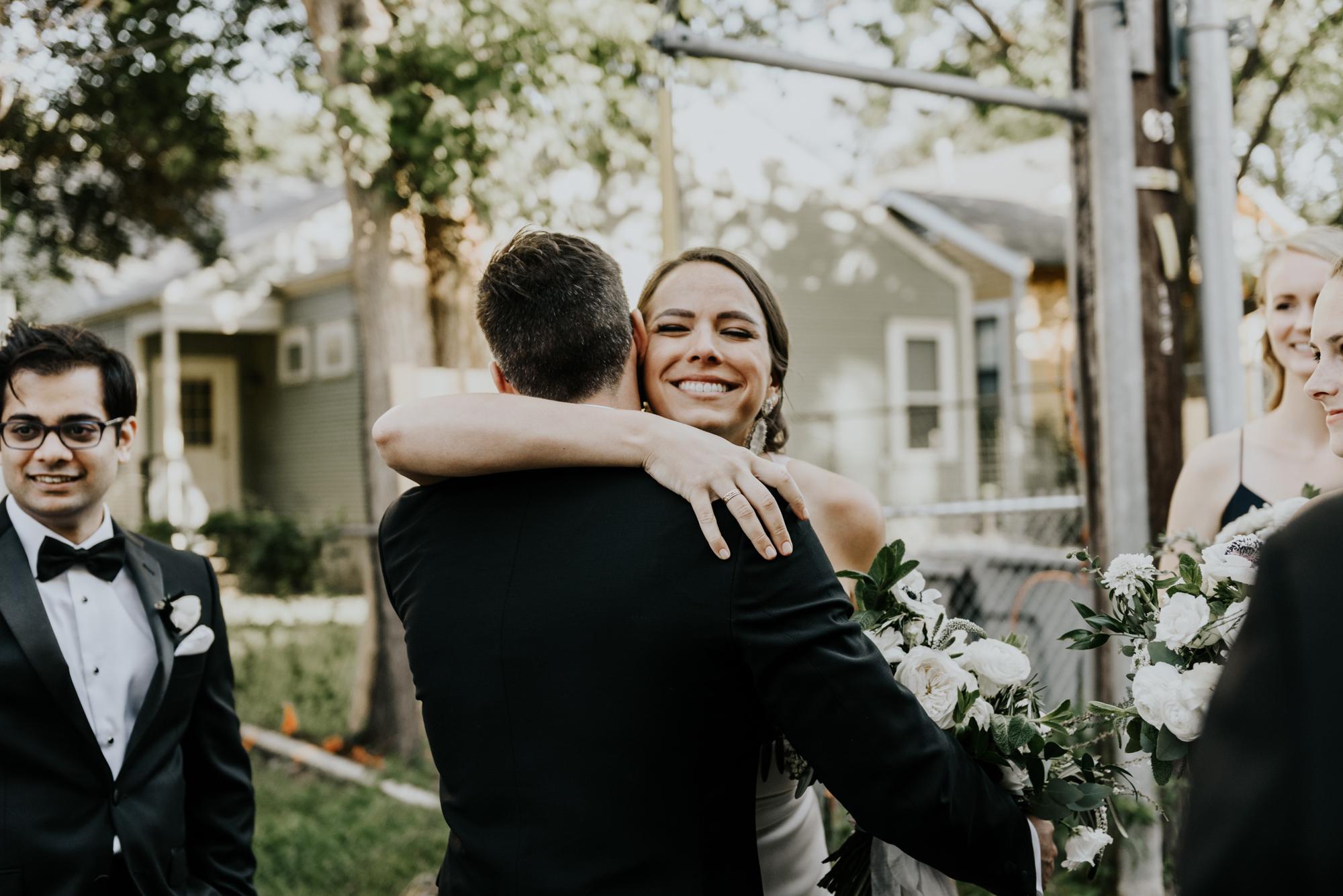 Intimate Wedding Day Ceremony Photos in Austin, Texas