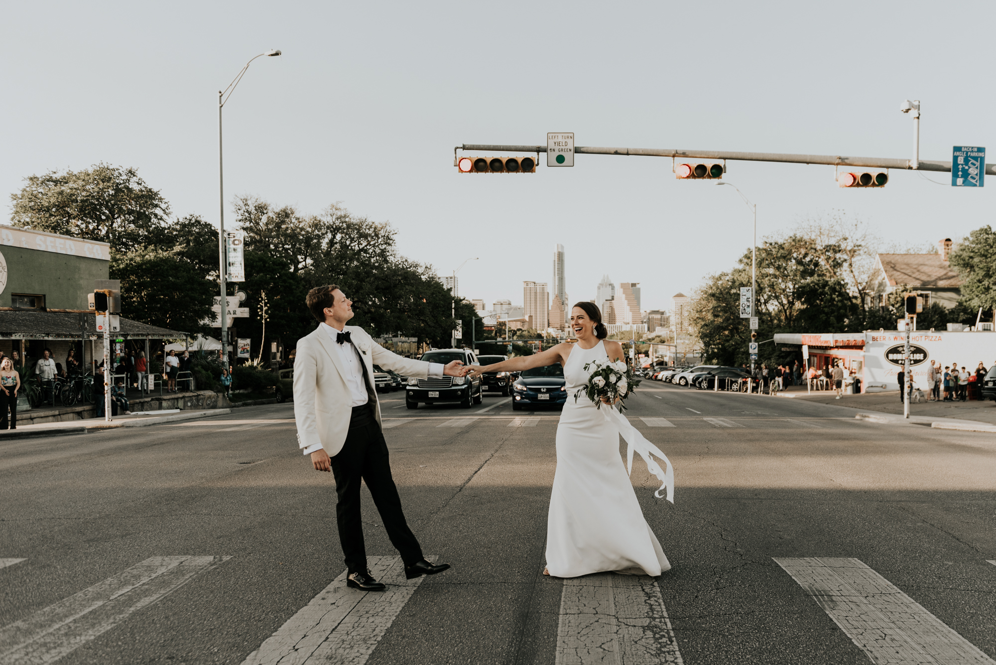 Intimate Wedding Bride and Groom Modern Portraits Austin Texas