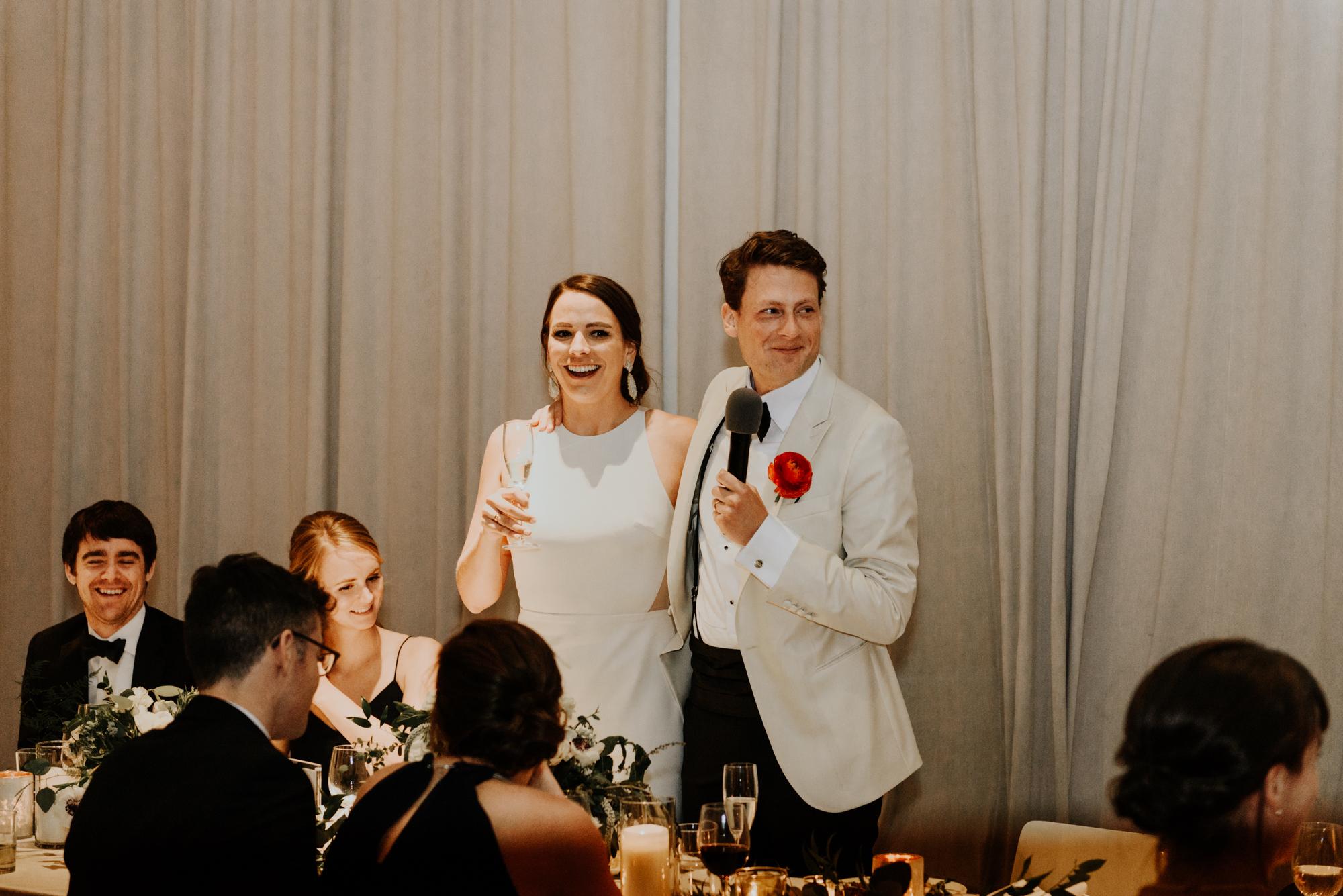 South Congress Hotel Intimate Wedding Reception Photos Austin, Texas