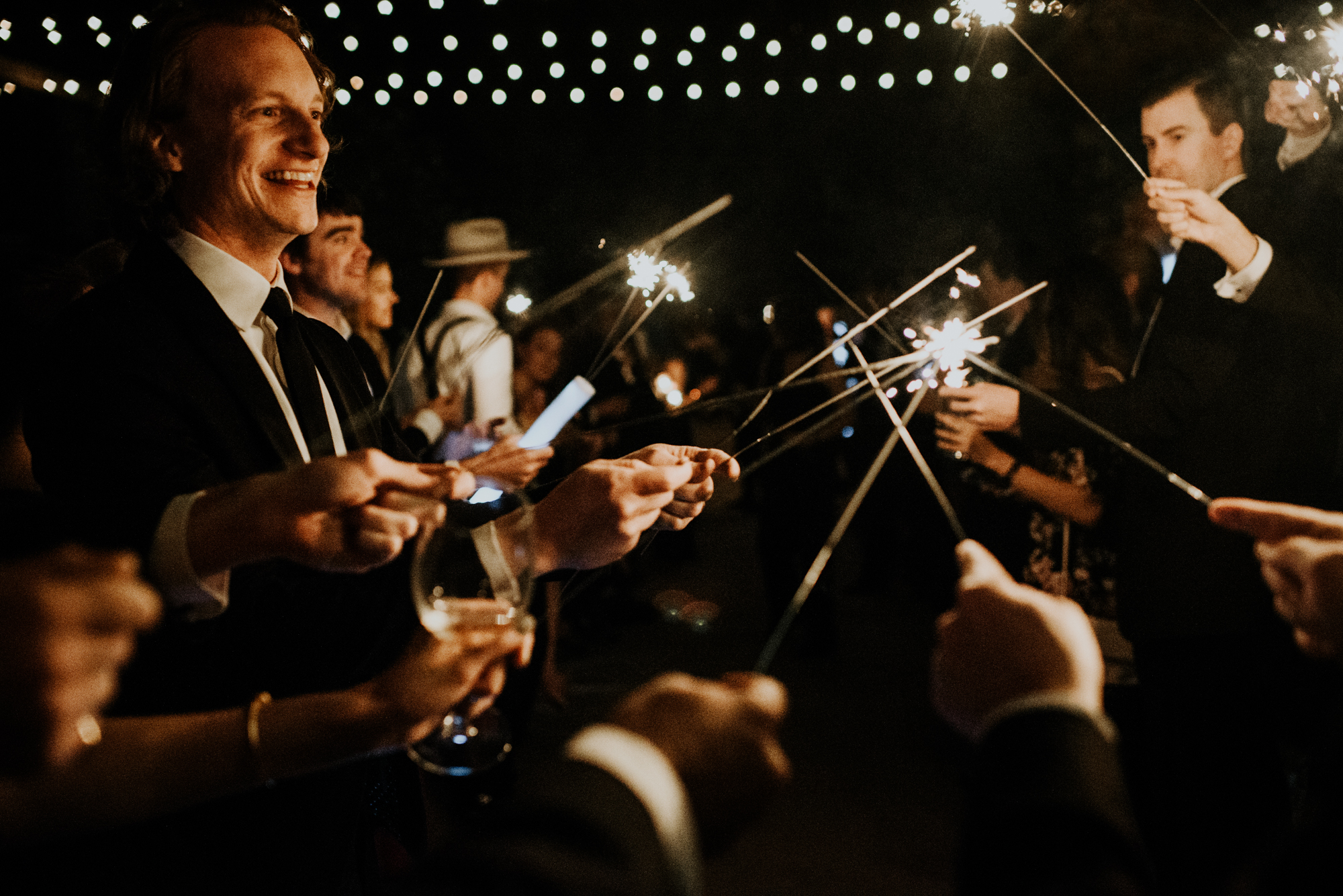 South Congress Hotel Wedding Fabulous Sparklers Exit Photos Austin, Texas