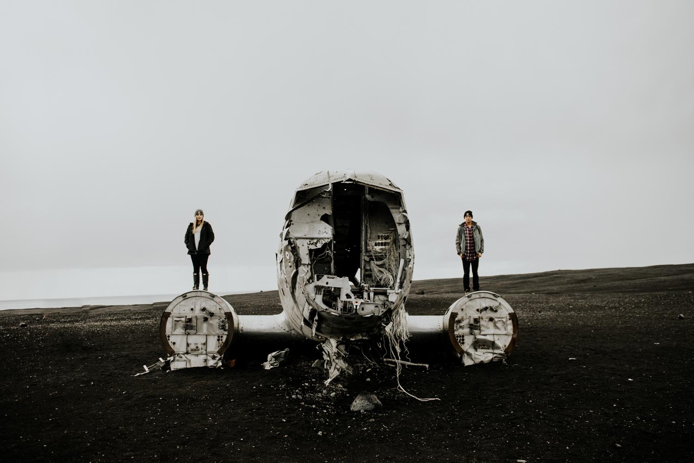 Adventure Couples Photos  in Sólheimasandur , Iconic Plane Crash in Iceland
