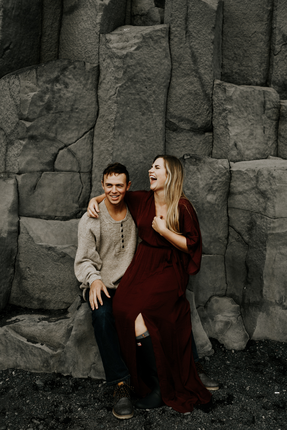 Vik, Romantic Anniversary Ideas and Adventure Photo session in Iceland