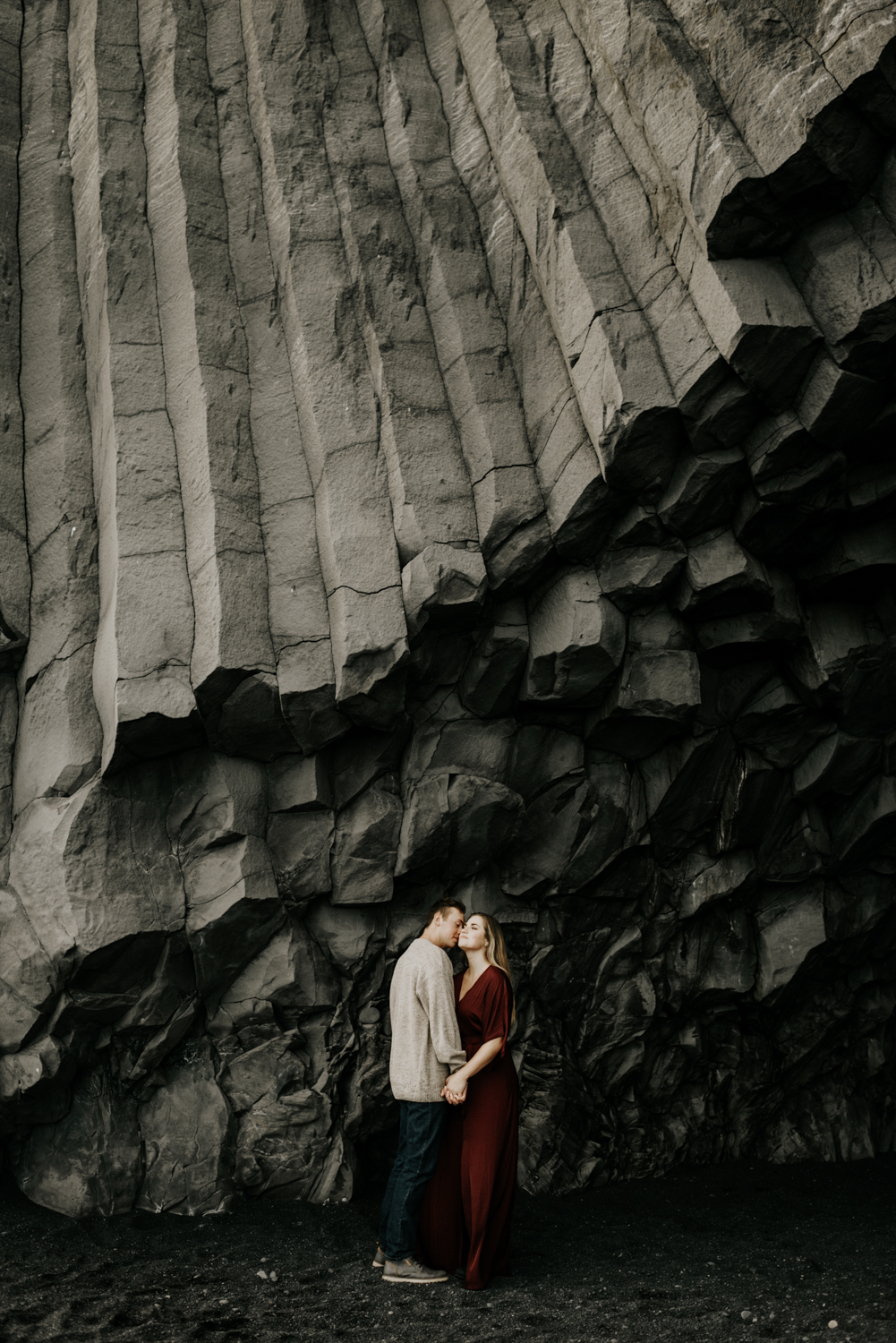 Iceland Adventure Photographer at the Black Sand beach in Vik